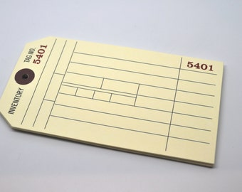INVENTORY Tag - QTY 12 - 2 1/2 x 4 1/2 inches - Merchandise Tag - Favor Tag - Gift Tag - Place Card - Drink Tag - Paper craft