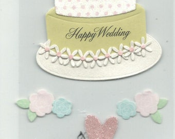 A Touch of Jolee's  -- Wedding Cake -- 8 pieces --  dimensional stickers  --  NEW  --  (#1194)