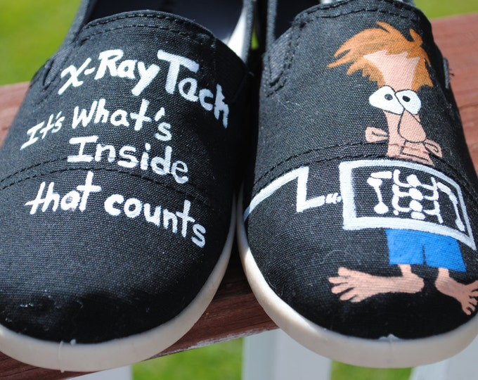 For Sale  Heyyyyy X-Ray Tech's...... It's what's inside that counts... right?  funny shoes size 8