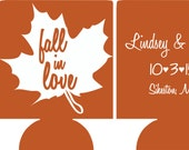 Fall Wedding Can CoolersDesign 102019437 lot of 25 to 300 personalized custom Party favors quick ship stock art