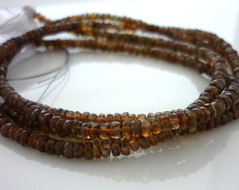 Andalusite faceted rondelle beads 2-2.5mm 1/2 strand