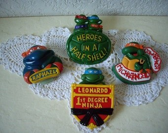 Four Teenage Mutant Ninja Turtle Belt Clips