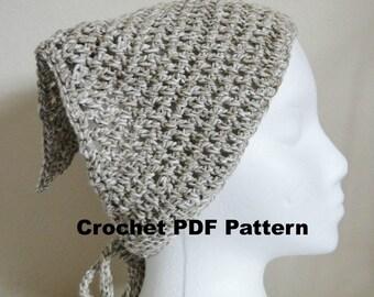 Crochet Linen Marl Bandana-PDF