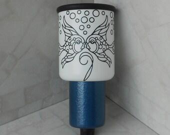 Kissing Fish Night Light, Decorative Wall Lamp, Kid's Bedroom Night Light, Artisan Lamps