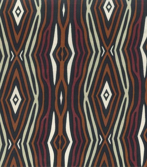 Per Yard Earth Tone Lightweight Tribal Print Fabric For