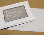 Satz von 8 Karten Rahmen Fotogrußkarten - eine Packung mit 8 Papier gefalteten Karten w / Umschläge - innen leer