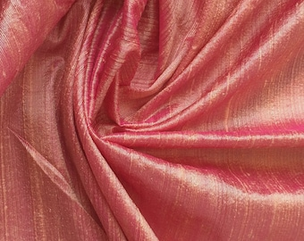 WHOLESALE OFFER 17% OFF - 10 Yards Peach Pink 100 Percent Pure Silk Dupioni Fabric