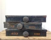 Vintage Metal Parts Storage Bin Drawer