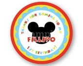 Mickey Mouse Sticker - Clubhouse Sticker - Minnie Mouse Sticker - Mickey Mouse Favor Sticker - Mickey Birthday - Clubhouse Birthday
