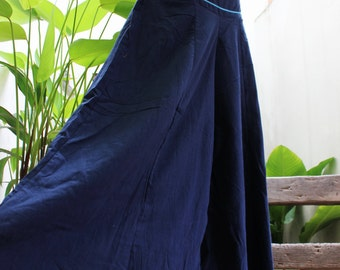 Wide Leg Pants - SL04 NAVY Blue