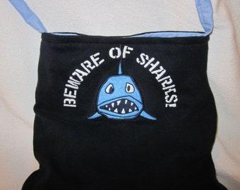 Re-Purposed Toddler T-Shirt - Beware of Sharks