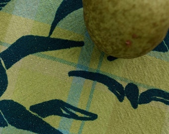 Kitchen towel, cotton – tea towel, dish towel, hand towel, cotton fabric, hostess gift, dishtowel, wedding gift, printed fabric, nature