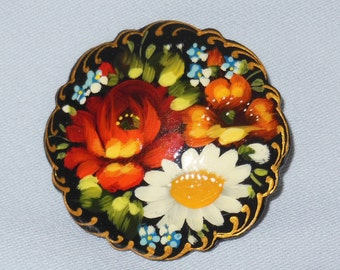 Russian handcrafte Hand painted Flowers