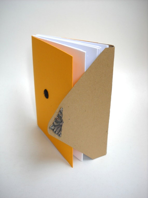 Golden Yellow Envelope Style, Softcover Notebook