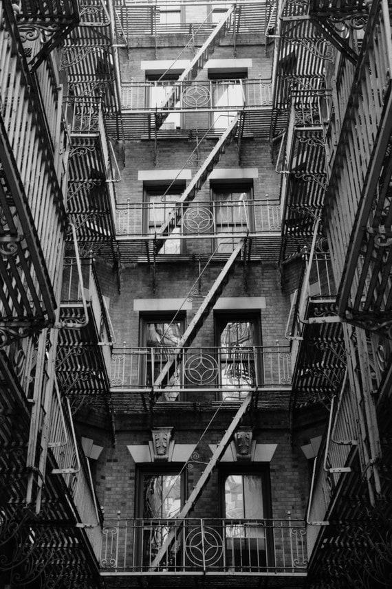 Fire Escape New York City 1940s : Fire escapes new york city