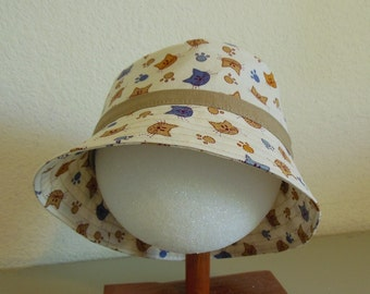 Children's Kitty Sunhat  3-4 years