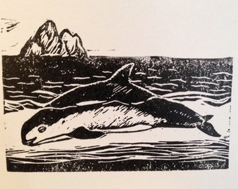 Save the Vaquita, Hand-printed Notecard