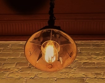 Hanging pendant lamp, upcycle light fixture, steampunk design
