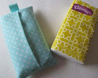 Tissue Case/White Dot On Mint