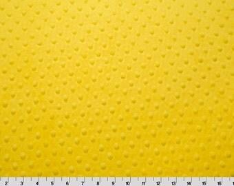 Minky, Canary, Yellow, Minky, Minky Dot, Cuddle, Fabric, Bright Yellow, Sunny Yellow, By Shannon Fabrics, Minkee, Sold By The Yard