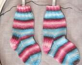 newborn fairytale hand knit socks