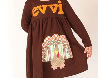 Toddler Thanksgiving Dress - Personalized Turkey Dress