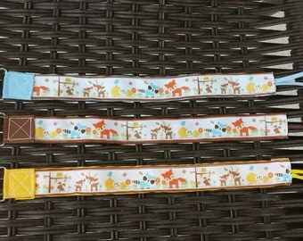 Woodland friends pacifier clip