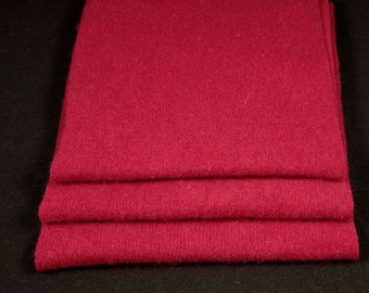 FELTED CASHMERE PIECES Reclaimed Sweater Scraps Raspberry 1394