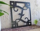 Metal Monogram Framed Initial Letter