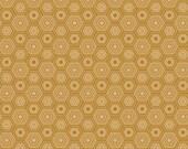 SALE! Gold Fabric Blend Fabrics Sweet as Honey in Gold Natural Wonder Fabric Josephine Kimberling One Yard