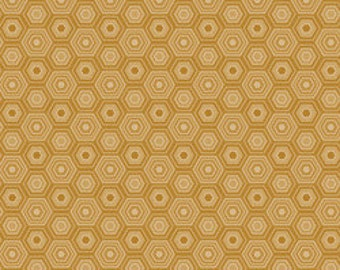 Gold Fabric Blend Fabrics Sweet as Honey in Gold Natural Wonder Fabric Josephine Kimberling One Yard