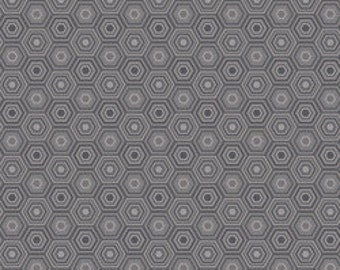 Grey Fabric Natural Wonder Blend Fabrics Josephine Kimberling Sweet as Honey One Yard