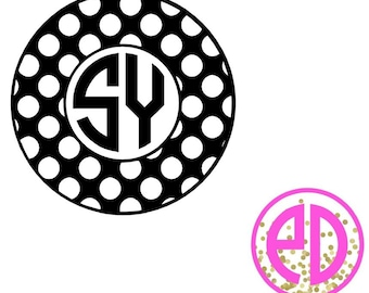Monogrammed Polka Dotted Decal