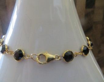 Clear or Black Swarovski Crystal Ankle Bracelet