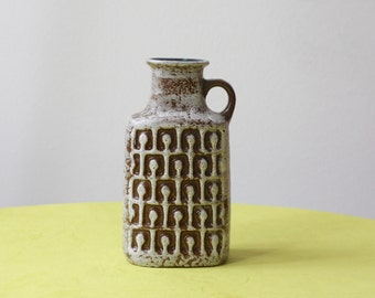 East German Pottery VEB Haldensleben Handled Vase