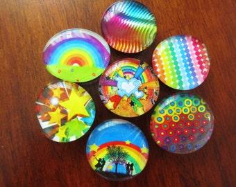 RAINBOW POP STAR Super Colors Glass Magnets