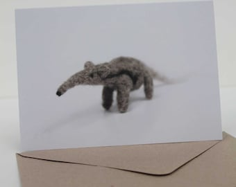 Needle felted creature cards featuring Mammals