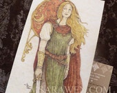 DAUGHTER OF KINGS Fantasy Greeting Card / inspired by Lord of the Rings Card / Fantasy Art / Medieval Art