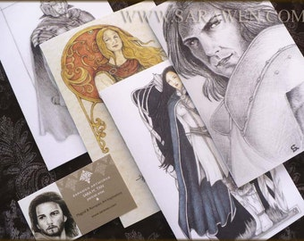 GREETINGS CARDS / Choose Three Cards / Fantasy Art / Medieval Art / Sarawen Artworks