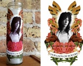 "Pop Culture Altar Candle: ""Our Lady of Poetry"""
