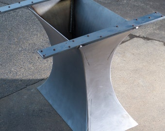 Concave metal Table Base - (add your own top)