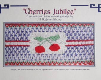 Smocking Plate - Cherries Jubilee by Jill Hoffman Shoop (book 2)