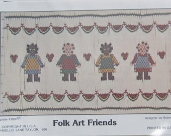 Smocking Plate - Folk Art Friends #100 by Mollie Jane Taylor (book 5)