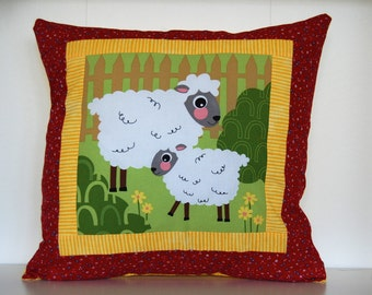 SALE, Barnyard Pillows, Farm, Kids Bedding, Sheep