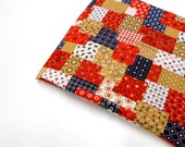 Cranston Print Works Fabric, 1/2 yd Quilting Fabric, Red/White/Blue Patchwork Look Material