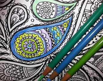 KPM Doodles Coloring page Paisly1