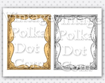 Clip Art Photo Frames for Ambrotype Photos Graphics Clipart Printable Digital Collage Sheet Instant Download Scrapbooking