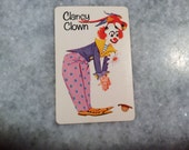 "Old Maid ""Clancy Clown"" Swap Card Replacement Card ~ Vintage Whitman EXC"