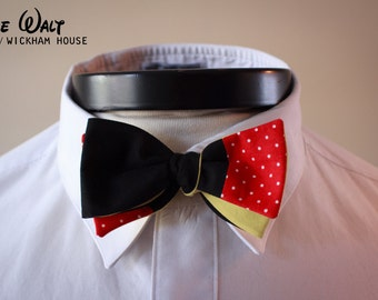 The Walt - Our Disney Inspired cotton bowtie in Mickey colors