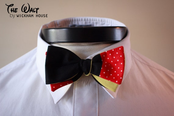 The Walt - Our Disney themed cotton bowtie in Mickey colors